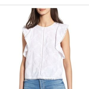 Flutter Sleeve Hinge Top